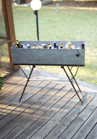 vertical galvanized drink tub
