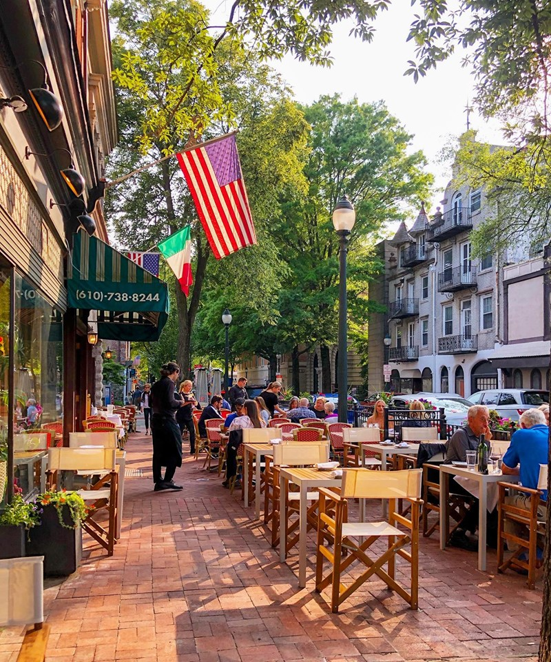 outdoor dining in west chester