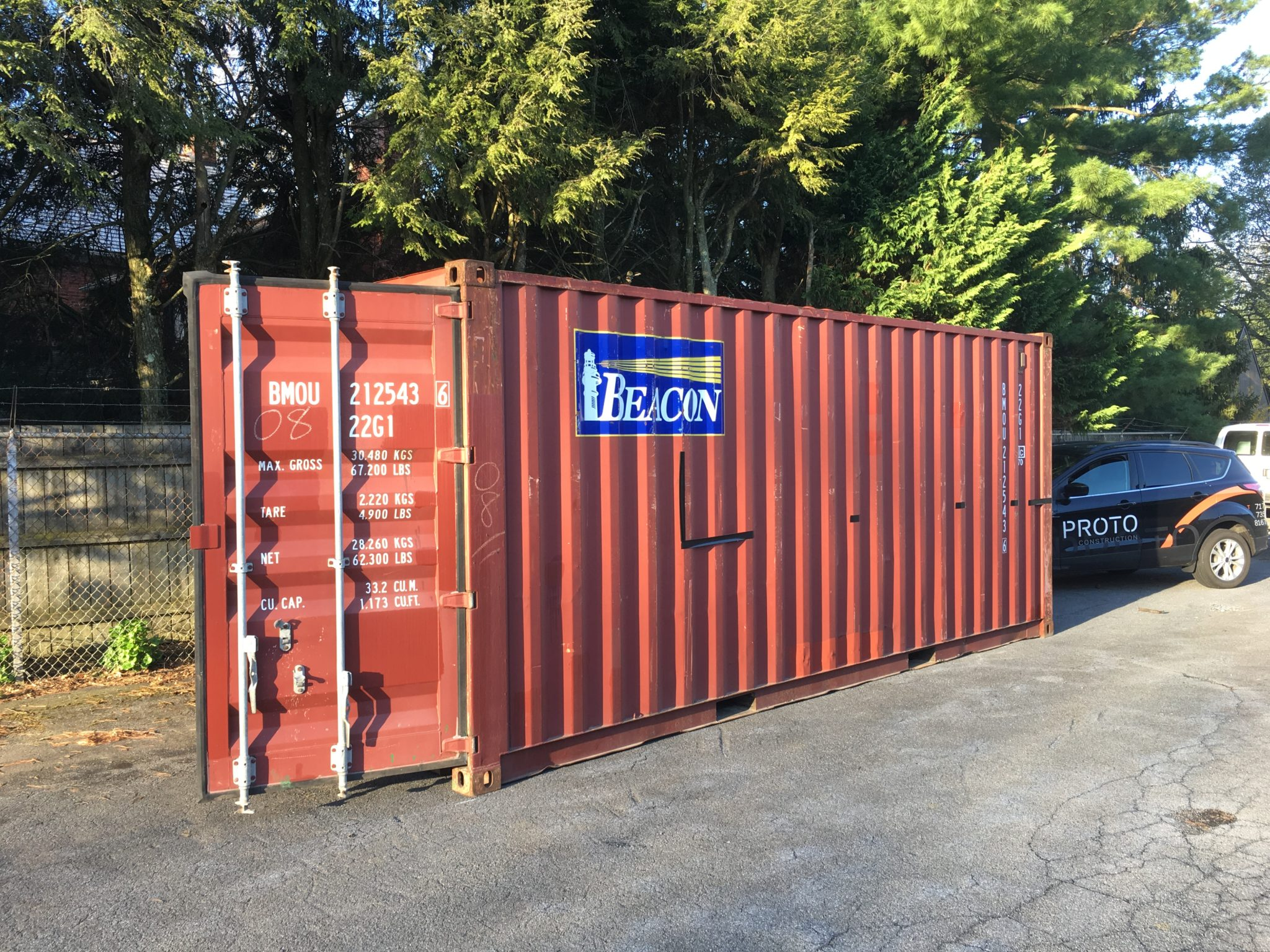 Shipping Container Bar Before