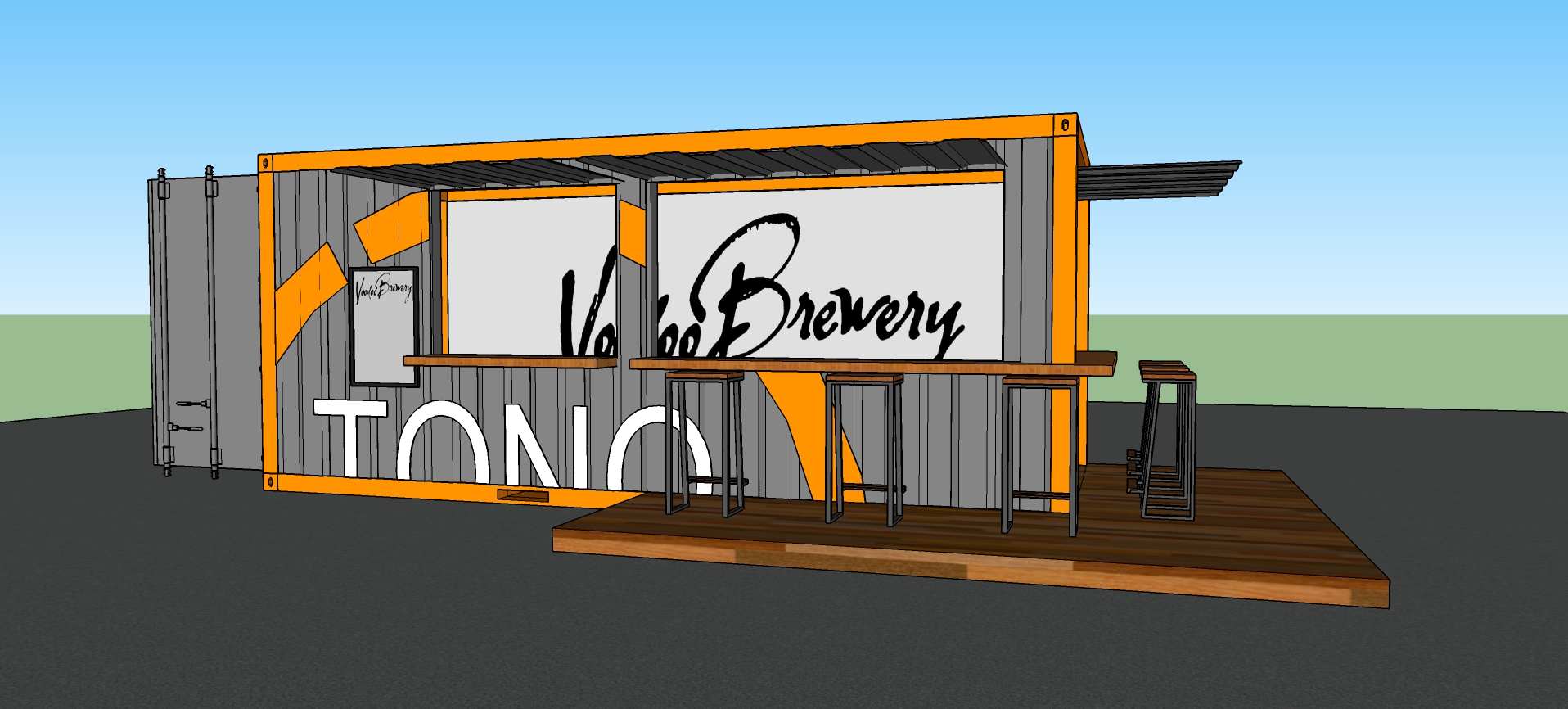 Shipping Container Bar Concept