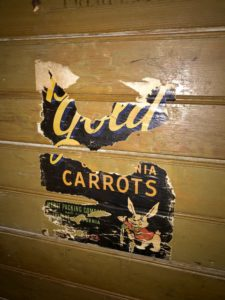 California carrots signage