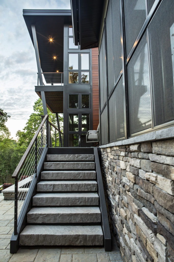 exterior home stair