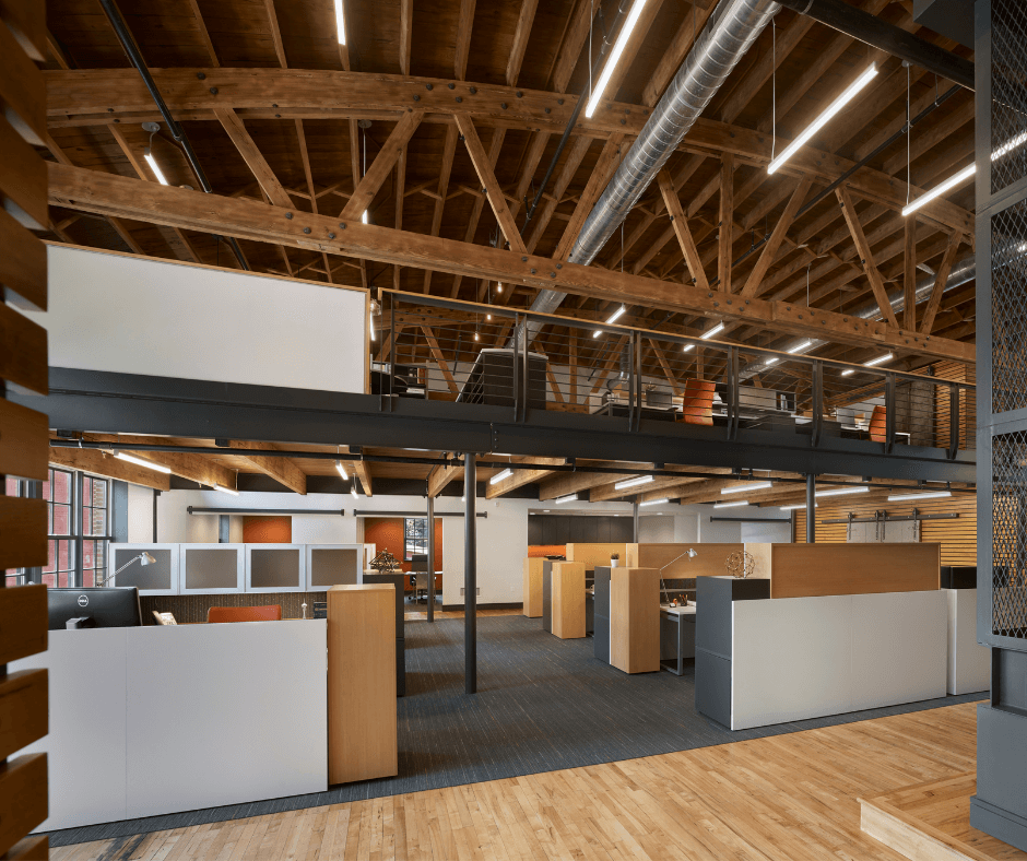 Open concept workplace